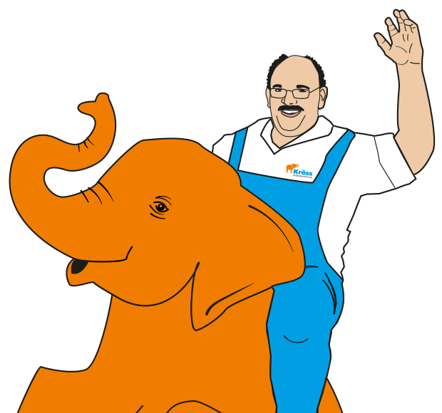 Illustration Willi auf Elefant